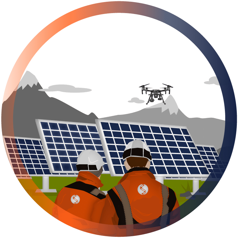service exploitants centrale solaire thermographie drone