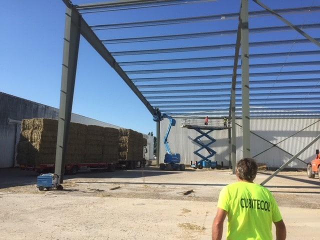 cantrale solaire en toiture agricole -bâtiments de stockage