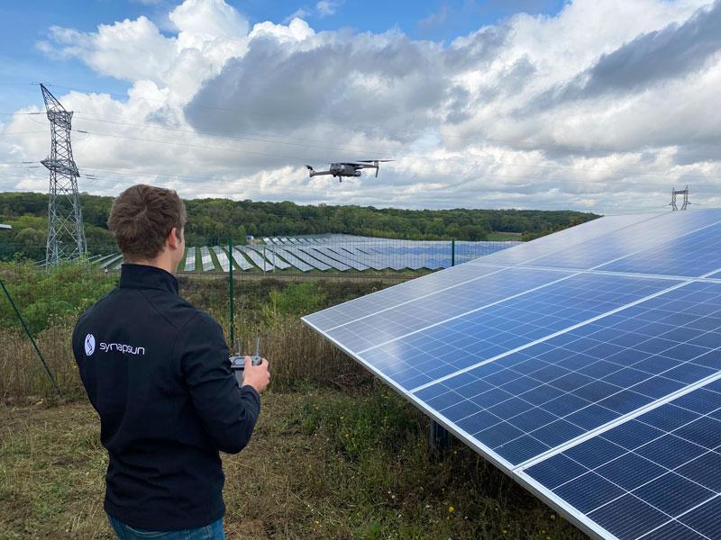 Synapsun: Vidéo immersive par drone de la centrale d'Annet-sur-Marne